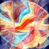 Fond onduleux abstrait d'éléments Photographie stock