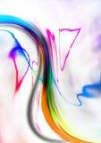 Fond onduleux blanc de gradient couvert de modèle abstrait Image stock