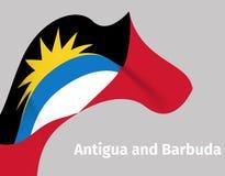Fond onduleux de drapeau de l'Antigua-et-Barbuda Photographie stock libre de droits