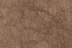 Fond onduleux de perle brun clair d'un matériel de textile Tissu avec le plan rapproché naturel de texture Images stock