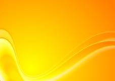 Fond onduleux jaune-orange abstrait de vecteur Photos libres de droits