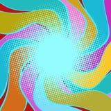 Fond onduleux multicolore de halfton Image libre de droits