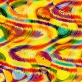 Fond onduleux rayé de grunge coloré abstrait Photo stock