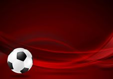 Fond onduleux rouge du football Images libres de droits