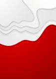 Fond onduleux rouge et blanc abstrait Image libre de droits