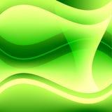 Fond onduleux vert abstrait Image libre de droits
