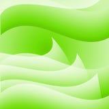 Fond onduleux vert abstrait Image stock