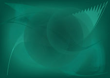 Fond onduleux vert abstrait de vecteur Image stock