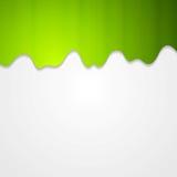 Fond onduleux vert abstrait de vecteur Photo stock
