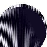 Fond optique avec les lignes géométriques monochromes Bagout de moirage Image stock