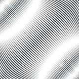 Fond optique avec les lignes géométriques monochromes Bagout de moirage Image libre de droits