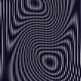 Fond optique avec les lignes géométriques monochromes Modèle de moirage Photo libre de droits