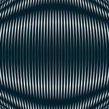 Fond optique avec les lignes géométriques monochromes moirage Image libre de droits