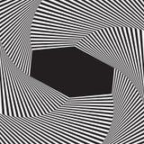 Fond optique d'art Cadre d'illusion optique avec l'espace vide Modèle géométrique moderne de vecteur Photographie stock