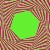 Fond optique d'art Cadre d'illusion optique avec l'espace vide Modèle géométrique moderne de vecteur Conception pour des contexte illustration de vecteur