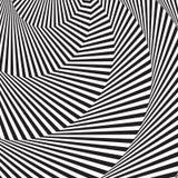 Fond optique d'art illusion 3d optique Fond géométrique onduleux moderne Configuration monochrome de vecteur illustration stock