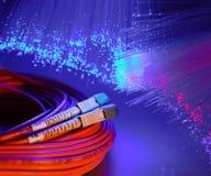 Fond optique de fibre Photos stock