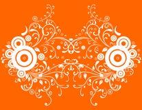 Fond orange abstrait Illustration de Vecteur