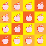 Fond orange abstrait Apple dirigent l'illustration illustration libre de droits