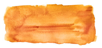 Fond orange abstrait d'aquarelle d'isolement Photo libre de droits