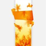 Fond orange abstrait d'origami Photo libre de droits