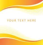 Fond orange abstrait de frontière de vague Photo libre de droits