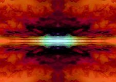 Fond orange abstrait de nuage Image libre de droits