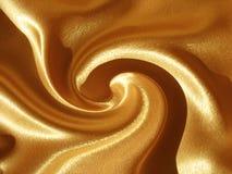 Fond (orange) abstrait de remous d'or illustration de vecteur