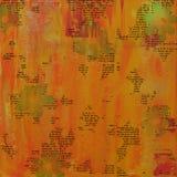 Fond orange affligé Image libre de droits