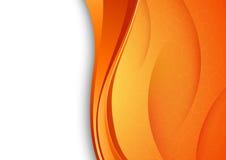Fond orange avec la texture criquée Images stock