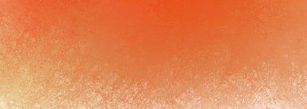 Fond orange brûlé avec la conception de frontière et la texture grunges blanches, modèle de couleurs chaud rustique Image libre de droits