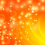 Fond orange-clair abstrait de vague illustration de vecteur