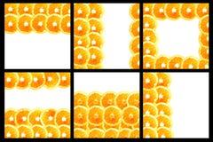 Fond orange découpé en tranches Images stock