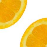 Fond orange découpé en tranches de fruit Photo libre de droits