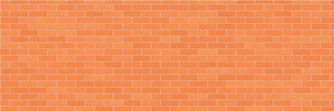 Fond orange d'abrégé sur mur de briques Texture des briques Pierre décorative Illustration large de vecteur illustration stock