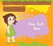 Fond orange de bande dessinée d'enfant Images libres de droits