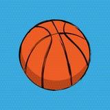 Fond orange de bandes dessinées de basket-ball illustration de vecteur