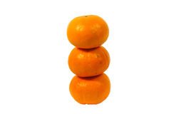 Fond orange de blanc de fruit Images stock