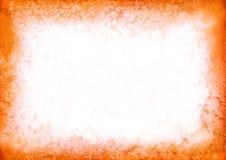 Fond orange de cadre d'aquarelle pour votre conception Texture tirée par la main illustration stock