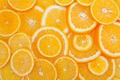 Fond orange de fruit Image libre de droits