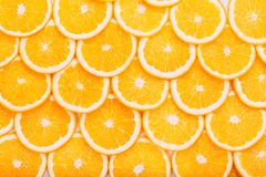 Fond orange de fruit Oranges d'été Sain Photographie stock