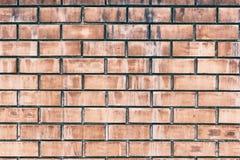 Fond orange de grunge de texture de mur de briques Images libres de droits