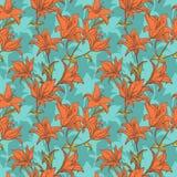 Fond orange de lis Photographie stock libre de droits