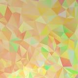 Fond orange de polygone Image libre de droits