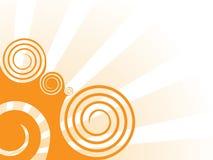 Fond orange de remous illustration libre de droits
