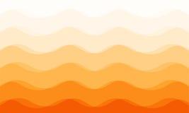 Fond orange de ton de courbe abstraite Image stock