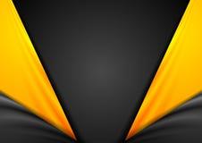Fond orange de vecteur de noir abstrait de contraste illustration de vecteur