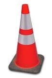 Fond orange en construction de blanc de cône du trafic Image libre de droits