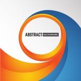 Fond orange et bleu abstrait de cercle de courbe Photographie stock