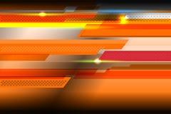 Fond orange géométrique Photo stock